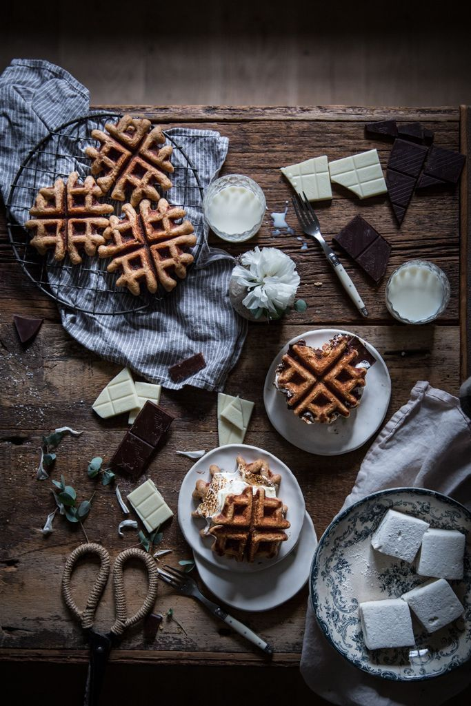 Brown butter & graham cracker waffles