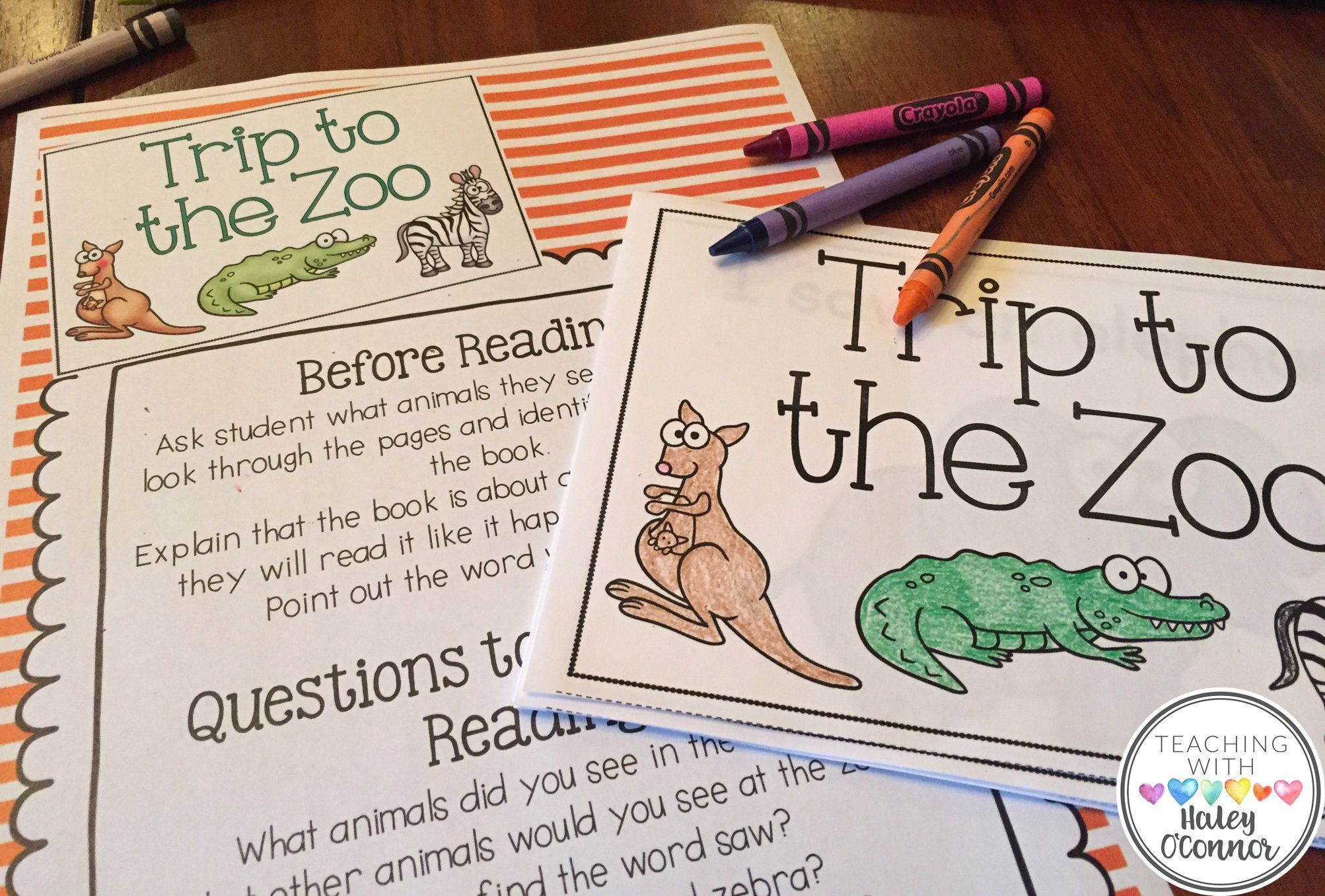 Early Guided Reading Printable Book Hey Teach