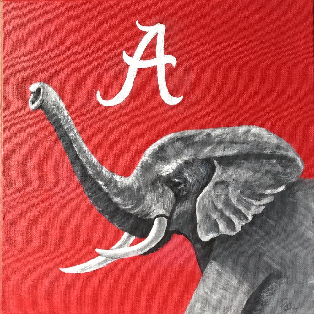 Alabama Crimson Tide Elephant Mascot Wall Art Team Pride Art