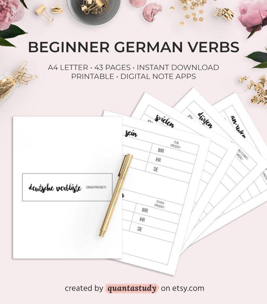 A1 A2 German Verb Conjugation Printable Packet Pdf Worksheet Etsy In 2021 Printable Packet German Verb Conjugation Learning Printables [ 985 x 864 Pixel ]