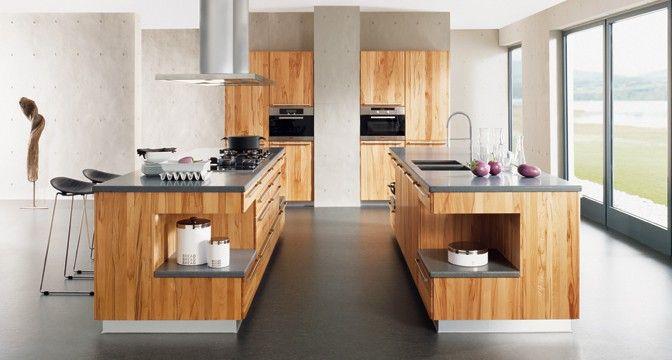Rondo Küche mit ovalen Griffstangen aus Edelstahl von TEAM 7