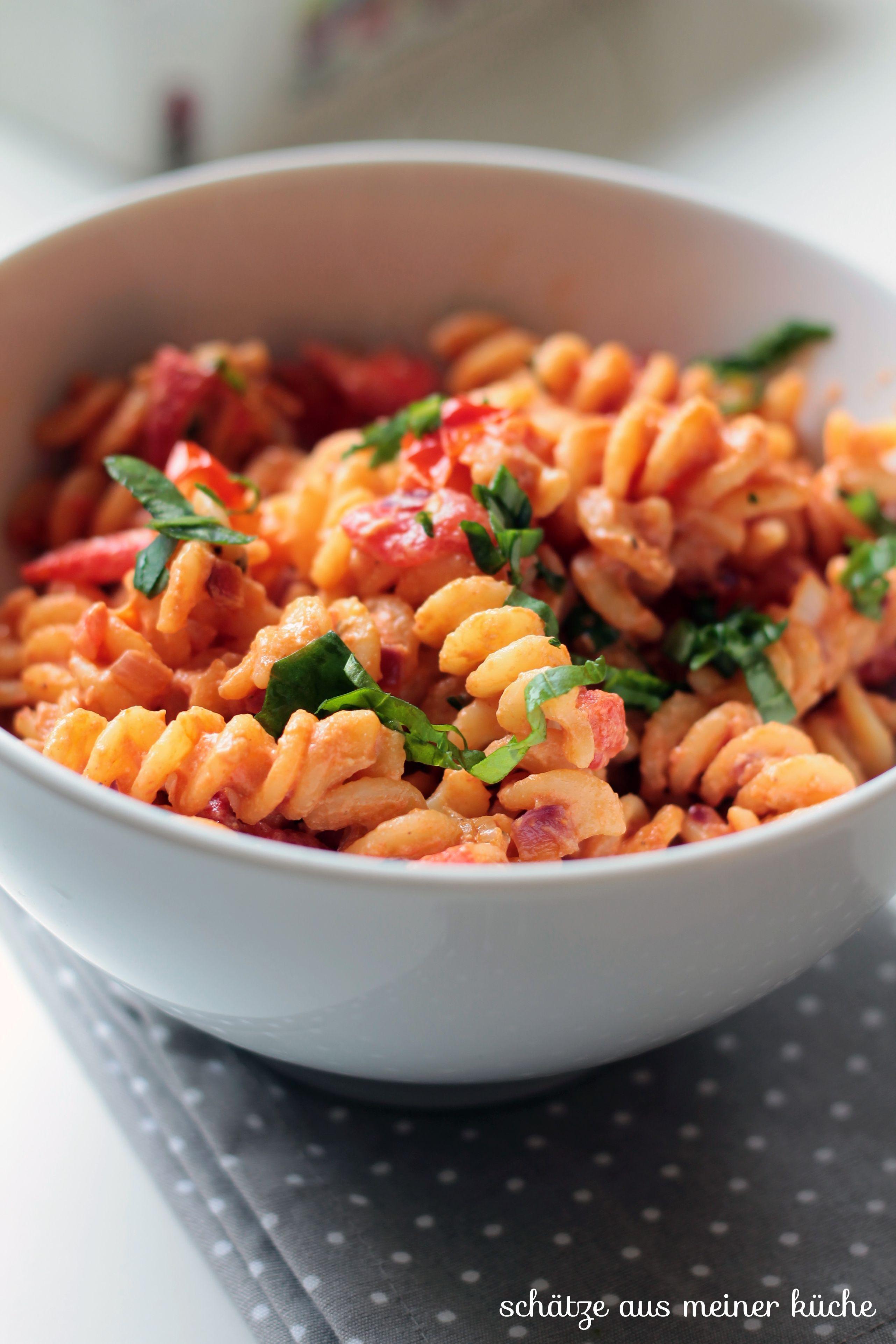 Tomaten-Ricotta-Nudeln mit Basilikum {Reklame}   Mmmmh   Ricotta ...