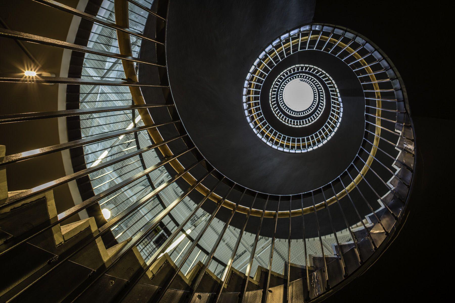 Goldeneye - Gothenburg, Sweden - © 2013 Mabry Campbell #spiralstaircase #gothenburg #sweden #lindholmen #winghårdh