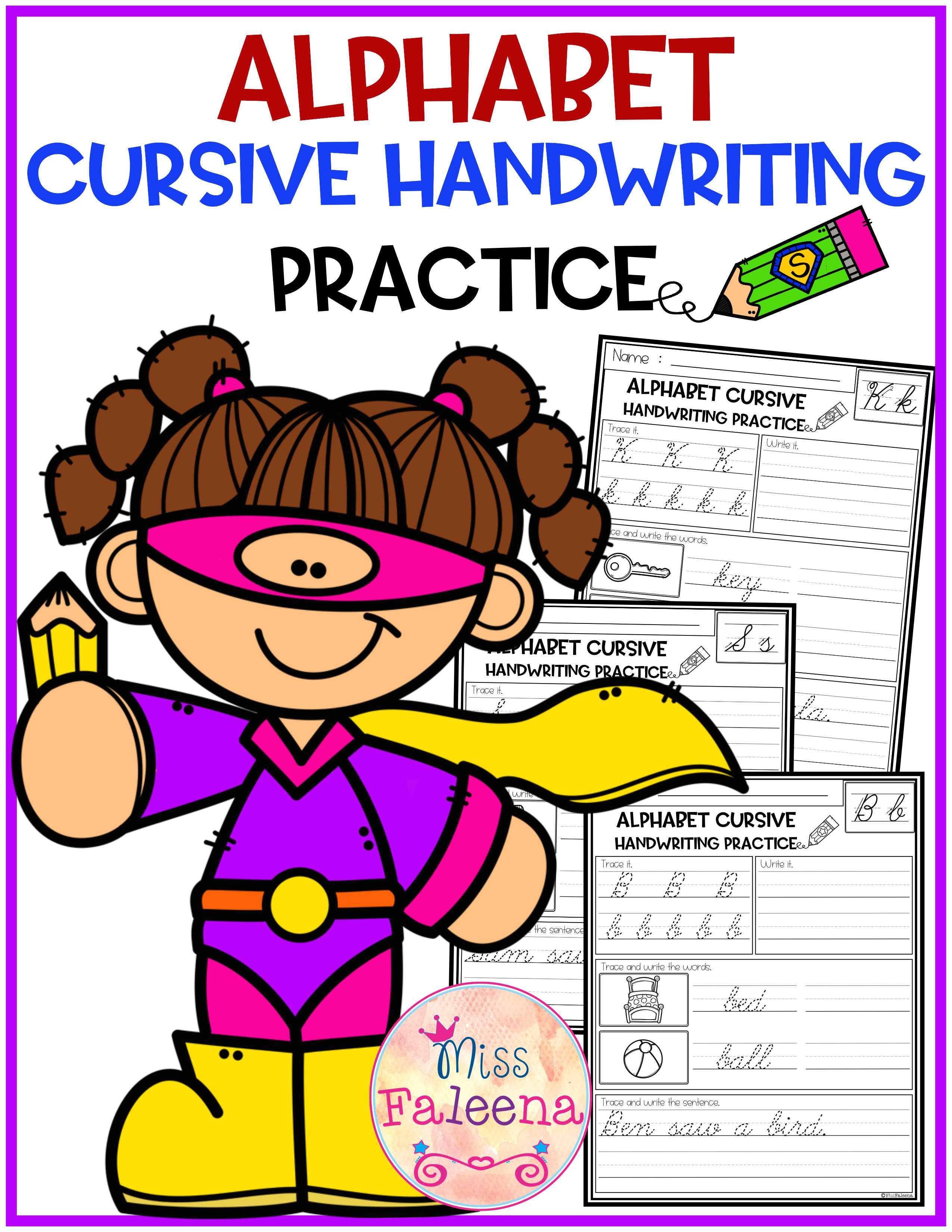 Alphabet Letters Cursive Handwriting This Product Has 20