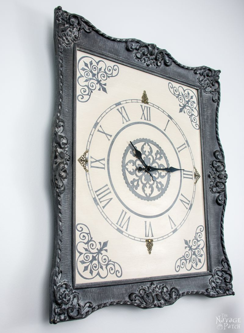 Ornate Frame to Wall Clock | Upcycled picture frame | How to make a ...