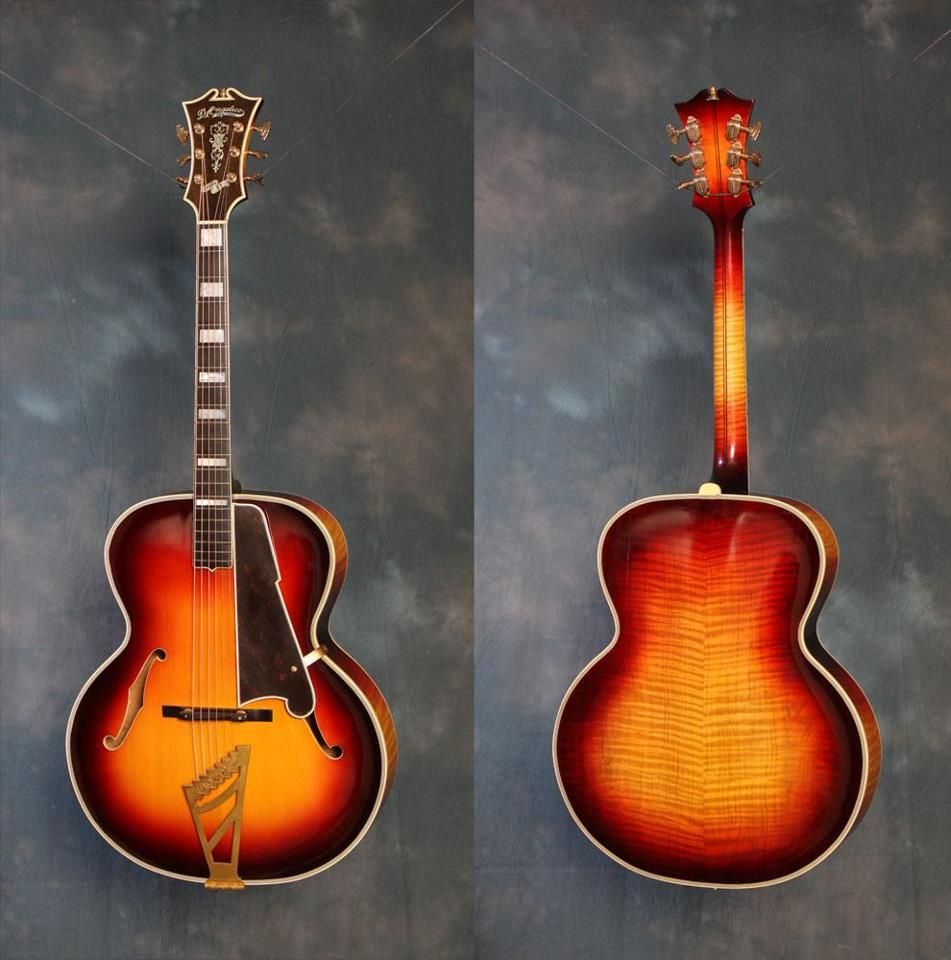 1937 D'Angelico Style B Archtop. Work of art. Vintage D'Angelico guitars are getting rarer and rarer. This one has an asking price of 15K at Gruhn Guitars in Nashville