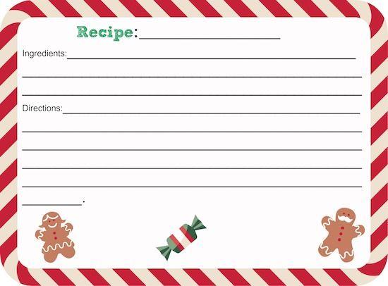 Printable Christmas Recipe Card Thrifty Jinxy Christmas Recipe Cards Christmas Recipe Cards Printable Free Christmas Printables