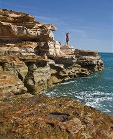 Walk in the footsteps of dinosaurs at Gantheaume Point, near Broome.