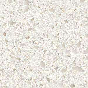 Iced White White Quartz Countertop