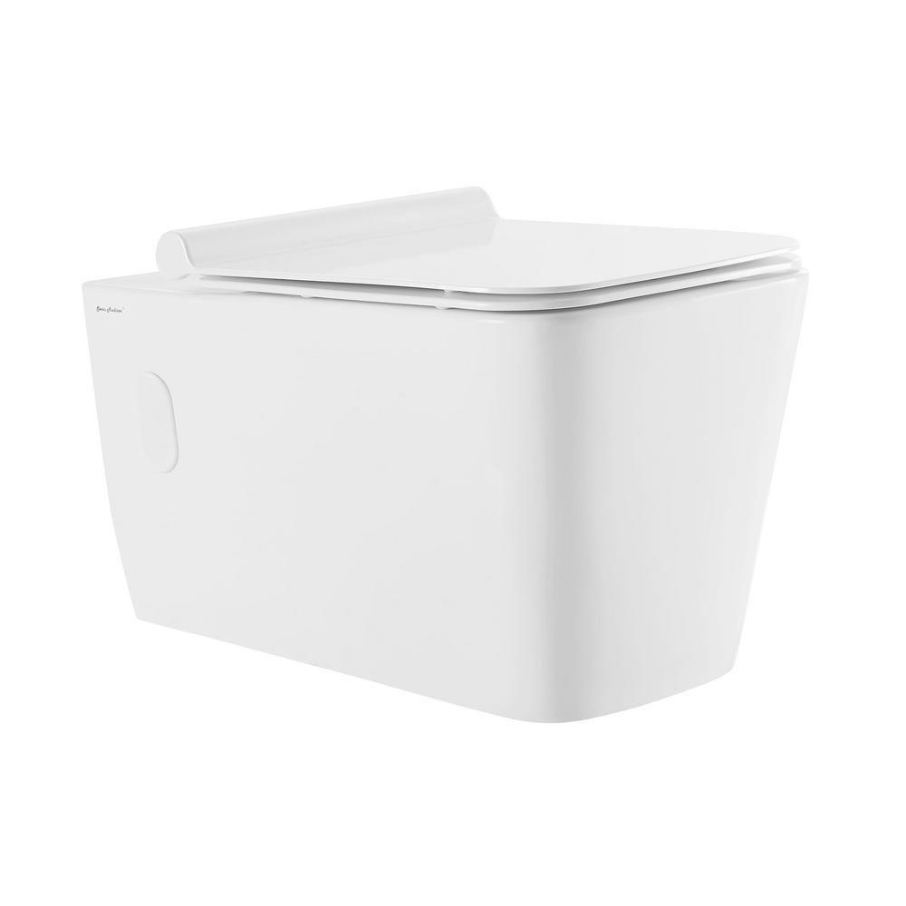 Swiss Madisonsublime Glossy White Dual Flush Elongated Custom Height Wall Hung Toilet Wall Hung Rough In Size In 2020 Toilet Wall Wall Hung Toilet Toilet Bowl