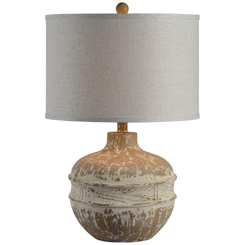 Forty West Tupelo Distressed Cream Table Lamp 87k17 Lamps Plus Cream Table Lamps Lamp Rustic Table Lamps