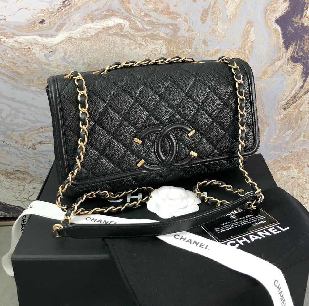 5ca7942bbe9c Chanel Caviar Quilted Medium Filigree Flap Bag #CHANEL | Chanel ...