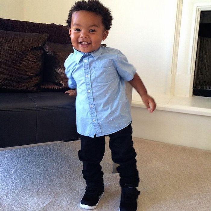 Wiz Khalifa Amber Rose S Son Sebastian Kids Outfits Amber Rose Son Celebrity Kids