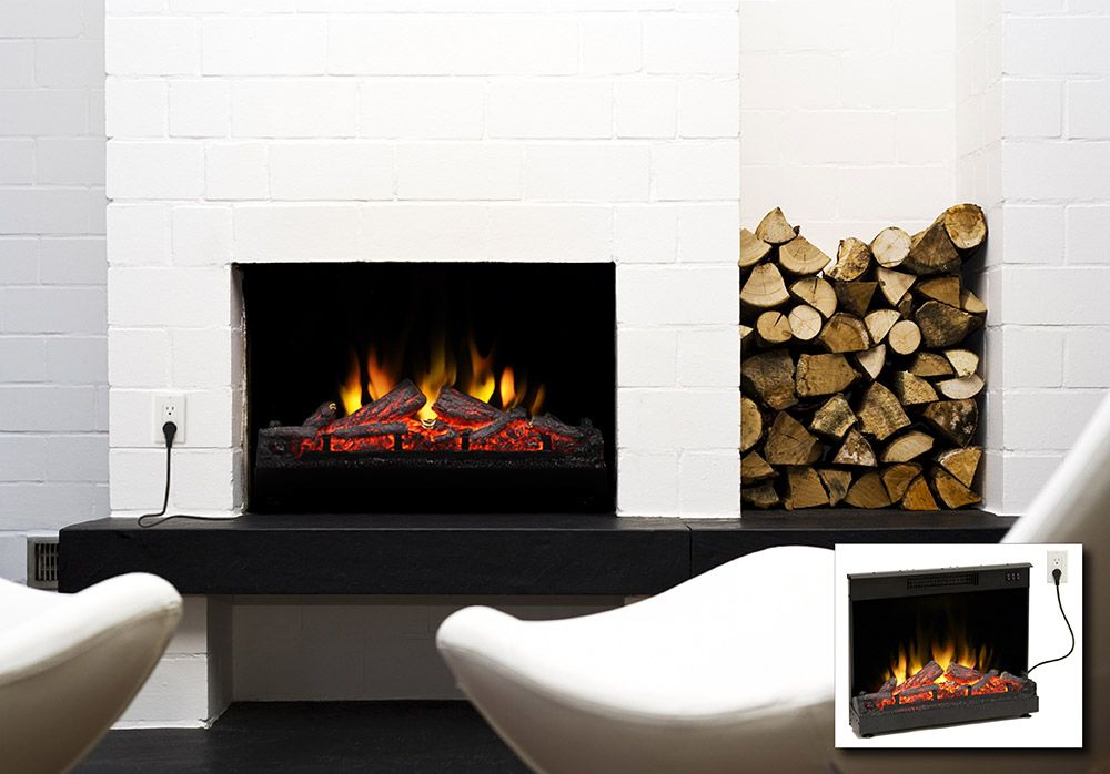 Fine Muskoka 24 In Electric Fireplace Insert Log Set Mfi2500 Home Interior And Landscaping Eliaenasavecom