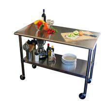 "EcoStorage™ 48"" Stainless Steel Table w/Wheels"
