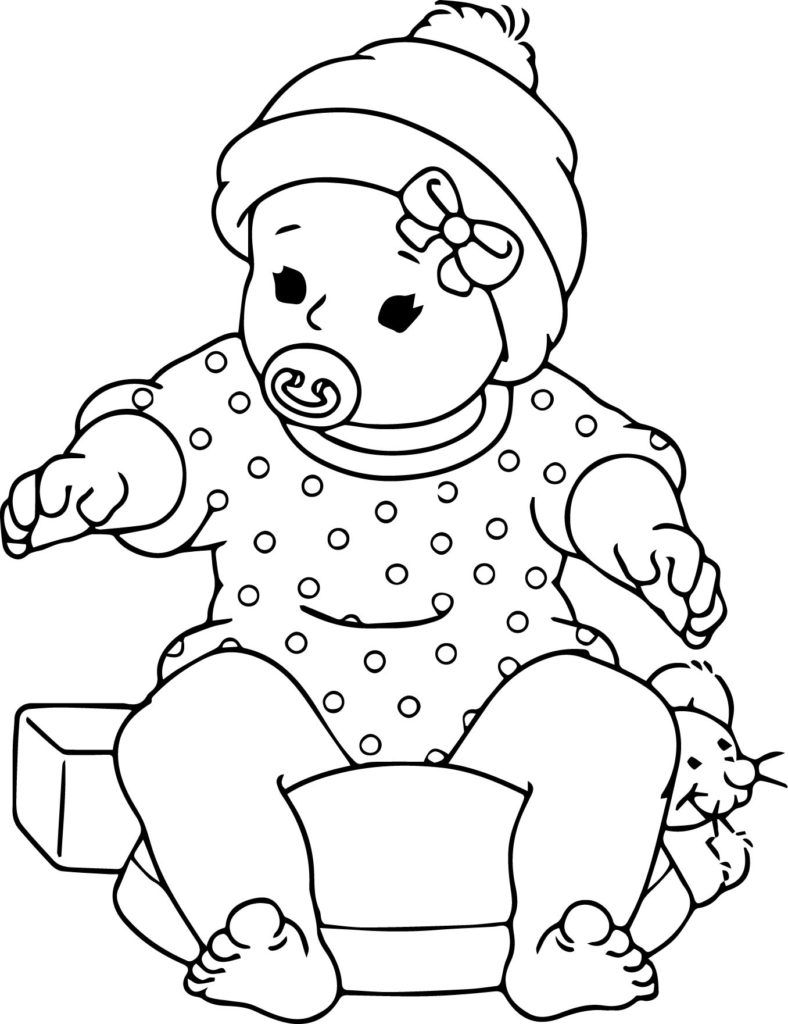Coloring Pages Enchanting Baby Coloring Pages Baby Doll Coloring
