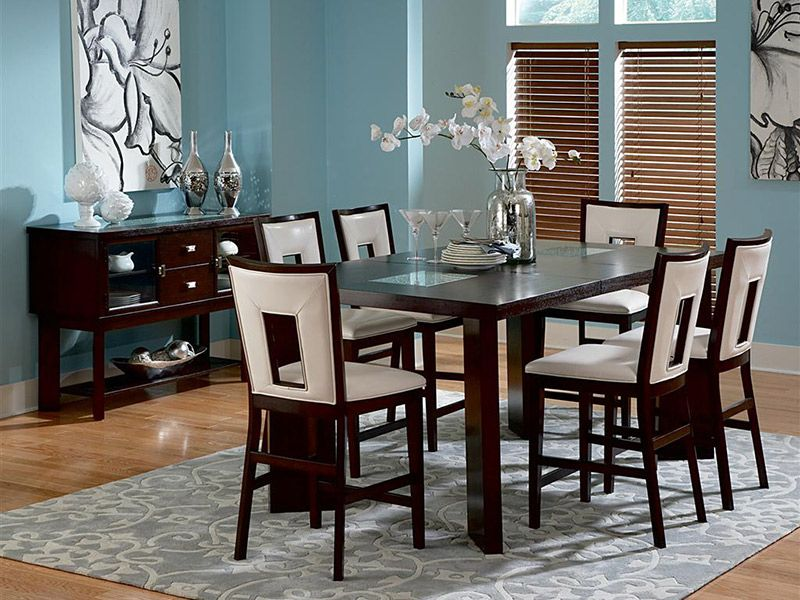 Cardi S Furniture Table 6 Stools 1299 99 800199831 Counter Height Dining Table Dining Room Furniture Dining Table In Kitchen