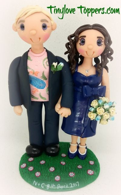Lesbian / same sex  Wedding Cake Topper by  Tinylove custom personalised wedding cake toppers    Non edible and personalised to look like you.