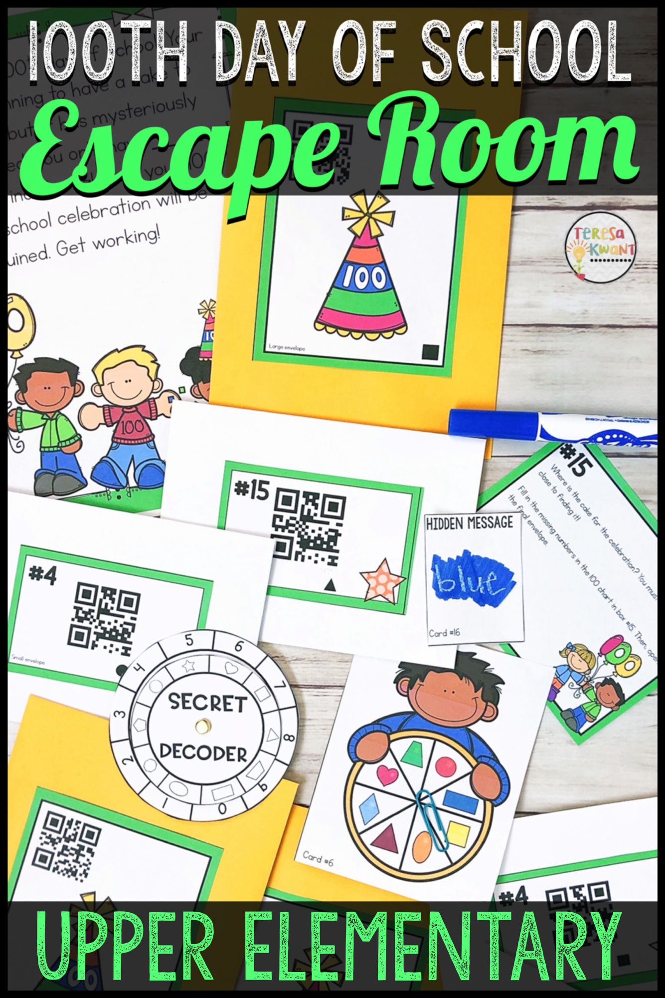 Cracking The Classroom Code 100th Day Of School Escape