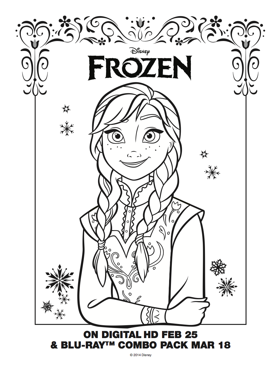 free printable disney princess coloring pages elsa anna