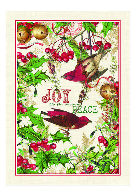 Michel Design Works Cotton Kitchen Tea Towel Christmas Mistletoe