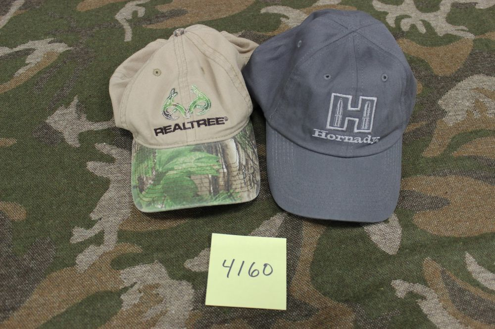 23f94711d5a Lot of 2 Realtree Camo  Hornady Hunting Themed Adjustable Cap Hats  4160   fashion