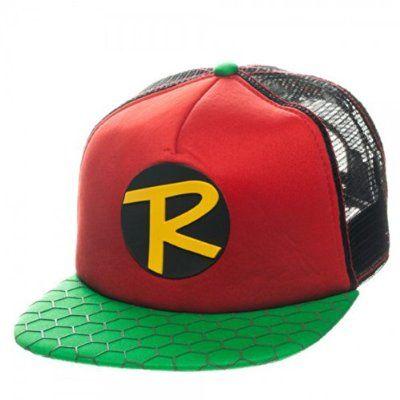DC Comics Robin Teen Wonder Trucker Adjustable Snapback Hat Cap ... ae65fba328e4