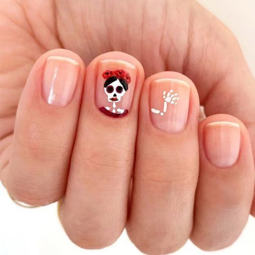 41 Cute And Creepy Halloween Nail Designs 2020 | Halloween ...