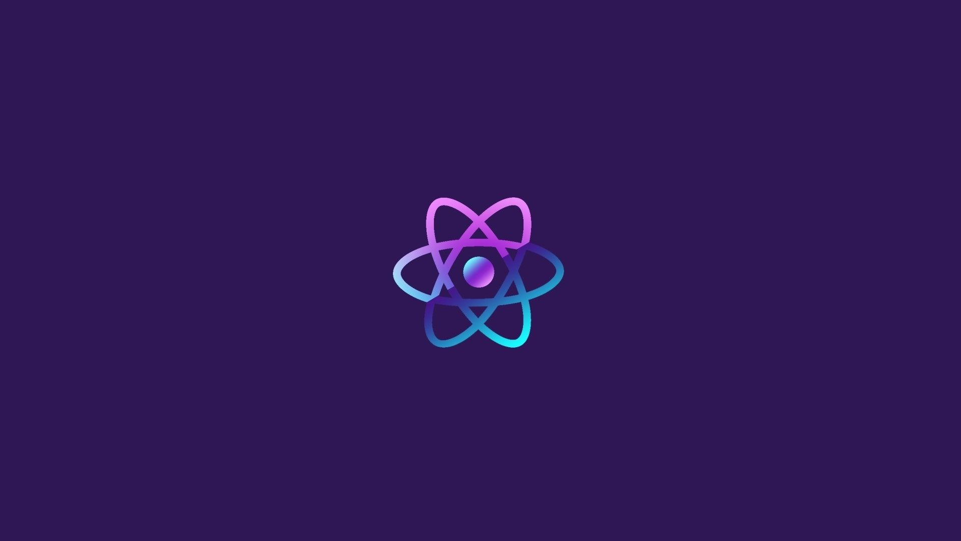 Download 1920x1080 Wallpaper Reactjs Atom Minimal Full Hd Hdtv