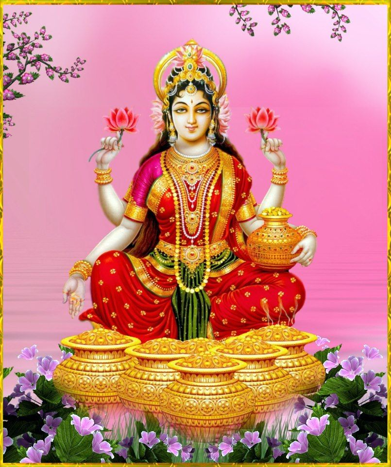 Dhan Lakshmi or Vaibhav Lakshmi - Wealth of money and riches