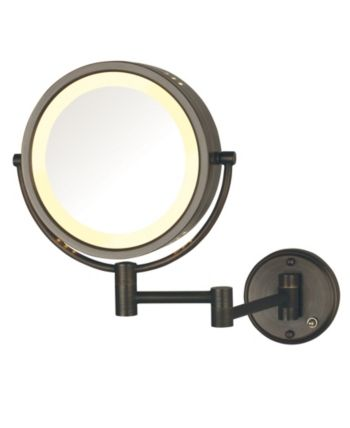 The Jerdon Hl75bzd 8 5 Wall Mount Lighted Makeup Mirror Bedding