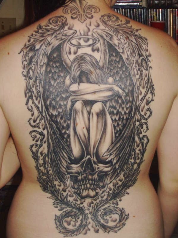 f52e2fa71 Kneeling Angel Tattoo Designs - http://amazingtattoogallery.com/kneeling- angel