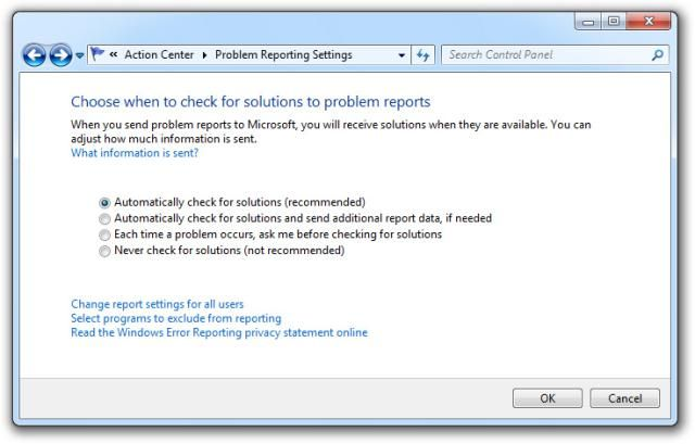 How To Disable Error Reporting in Windows Microsoft and Tech - problem report