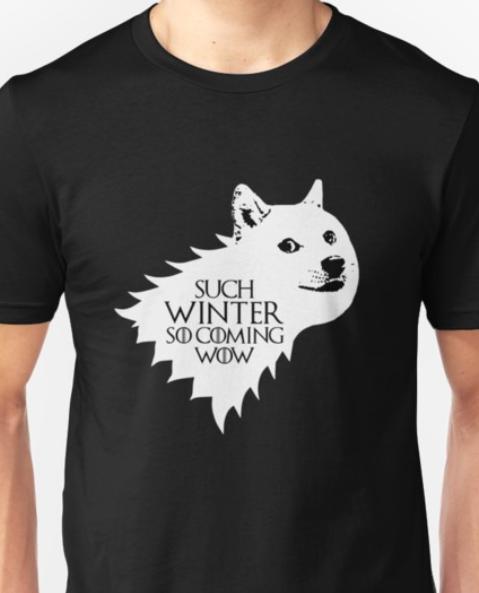 LET IT SNOW LADIES T SHIRT GAME JON LANNISTER THRONES DIREWOLF TYRION KHALEESI