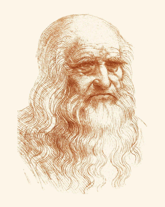 Leonardo Da Vinci Vintage Print Science Art Science Decor