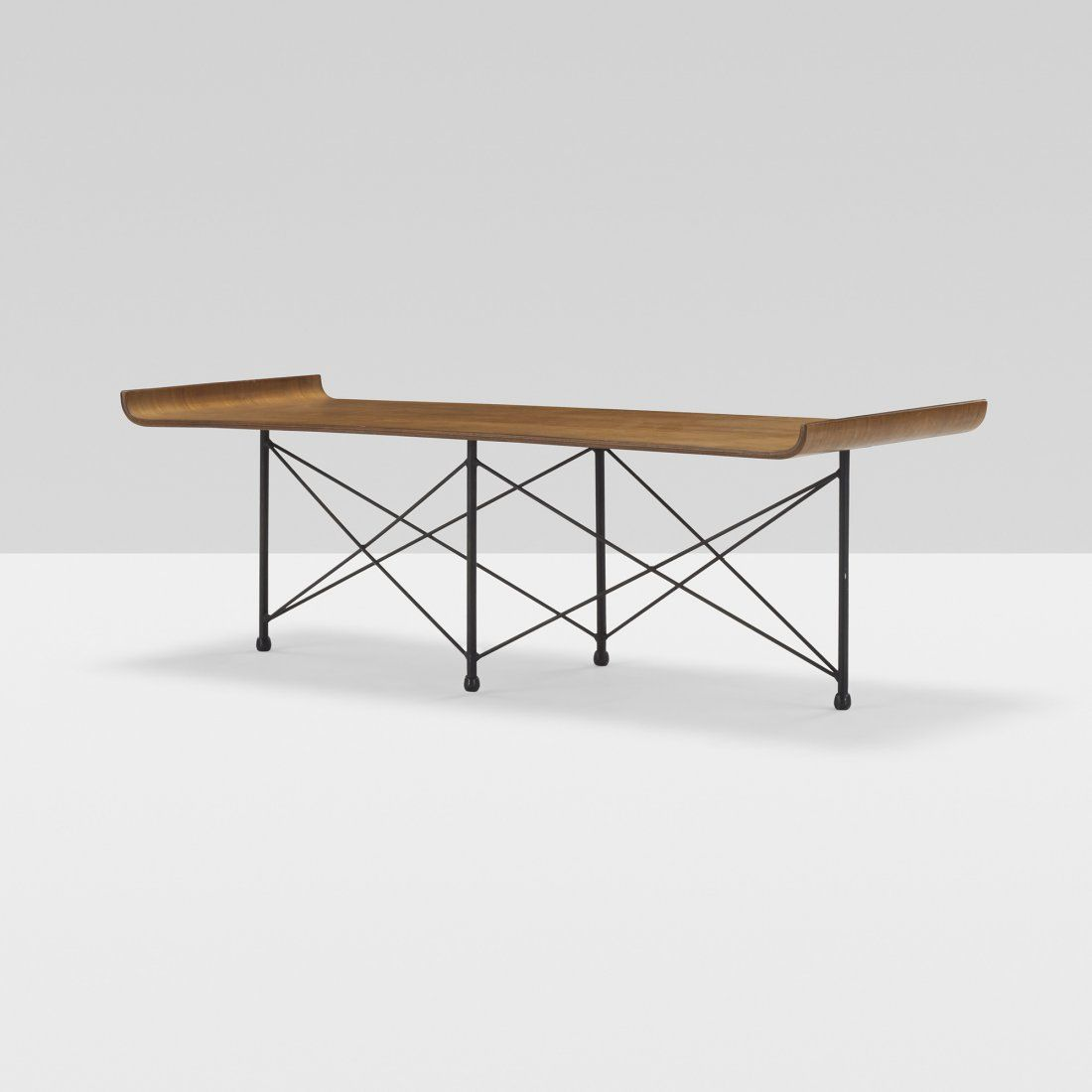 Franco Campo And Carlo Graffi Walnut And Enameled Steel Coffee Table For Home C1955 Mobel Furniture Furniture