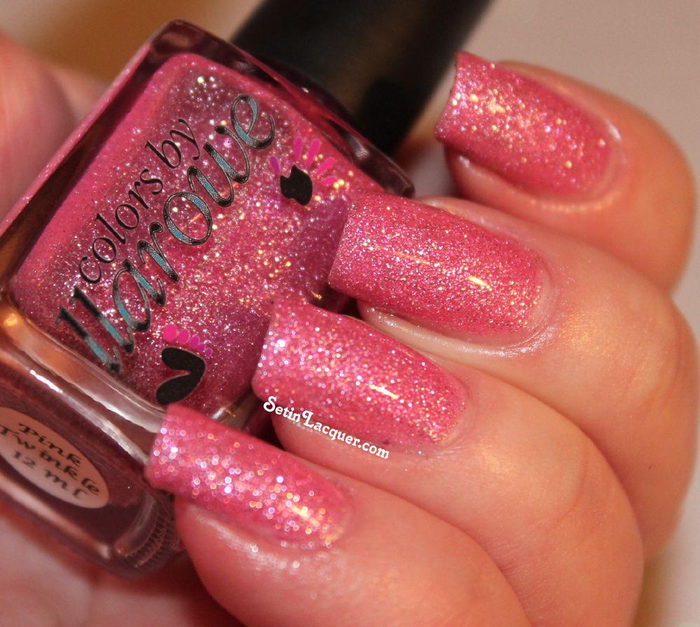 Cbl Pink Twinkle Nail Polish Glitter Nail Polish Color