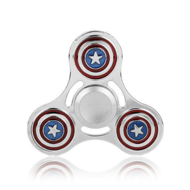 Captain America Silver Fid Spinner Education