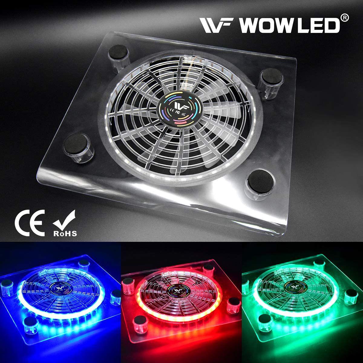 Wowled Cooling Fan Mini 3 Keys Control Gaming Usb Rgb Led Cooler
