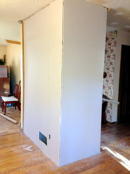 Diy Drywall Over Wood Paneling At Mom And Dads Diy Home Decor