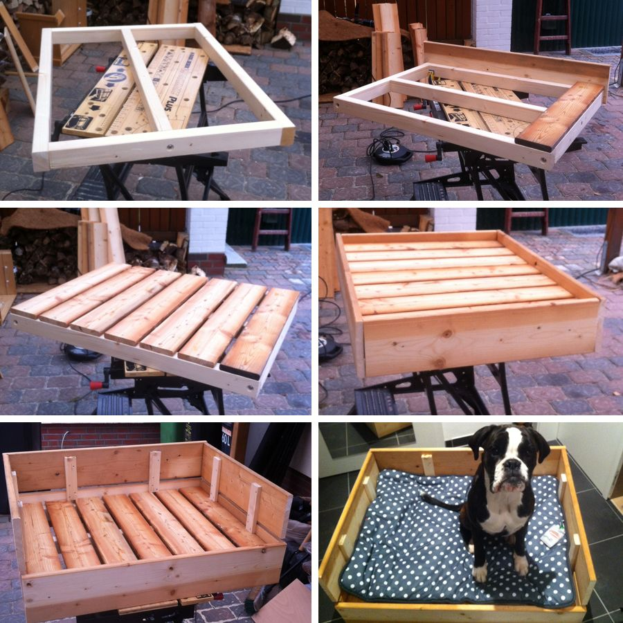 {DIY Freutag} Hundebett Aus Holz Selber Bauen | Pinterest | Dog, Dog Beds  And Dog Houses
