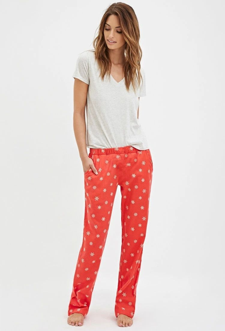Womens Autumn Print Pajama Sets Women Cotton Short Sleeve -5137
