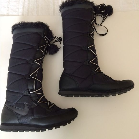 66fbbdb199 Nike boots Black Nike tall winter boots. Excellent condition. Size 8 Nike  Shoes Winter