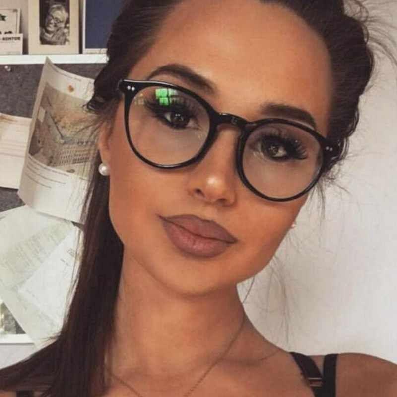 Photo of New Fashion Women Glasses Frame Men Black Eyeglasses Frame Vintage Round Clear Lens Glasses Optical Spectacle Frame
