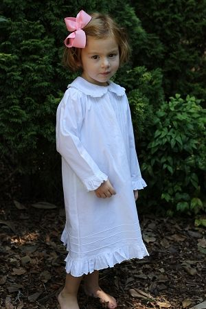 Child s Classic White Cotton Nightgown Christmas Nightgowns b7fd3ed53