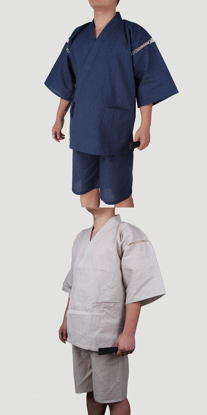 aliexpress shop for genuine clearance prices 2017 Summer Men Japanese Kimono Short Sleeve Sleepwear ...