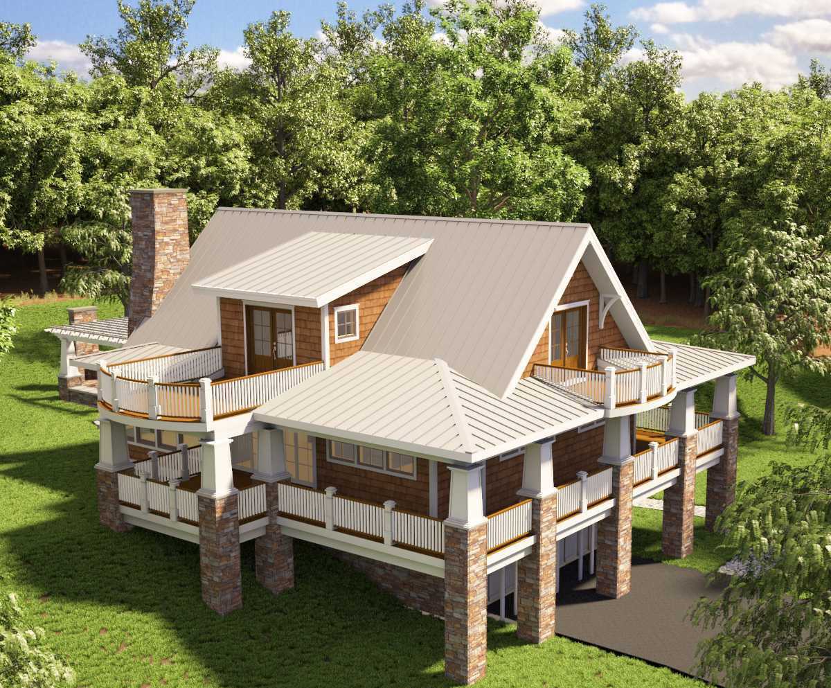 Plan 18251be Adorable Cottage With Wraparound Porch Craftsman House Plans House On Stilts Cottage Homes