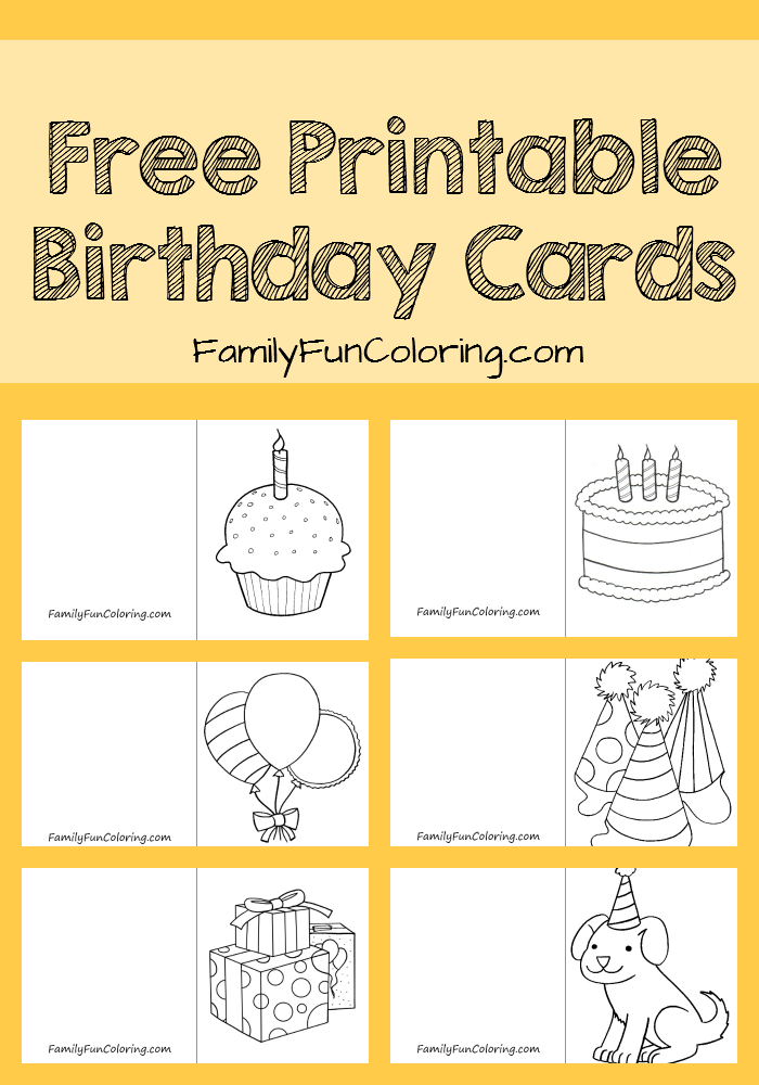 Your Little One Can Color And Give His Own Card To Friends Or Family For An Upcoming Birthday Free Printable Cards Be Of Tools