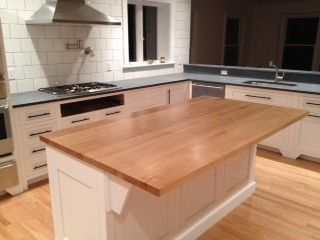 Solid Maple Butcher Block Island Top Maple Butcher Block Butcher Block Island Custom Kitchen Island