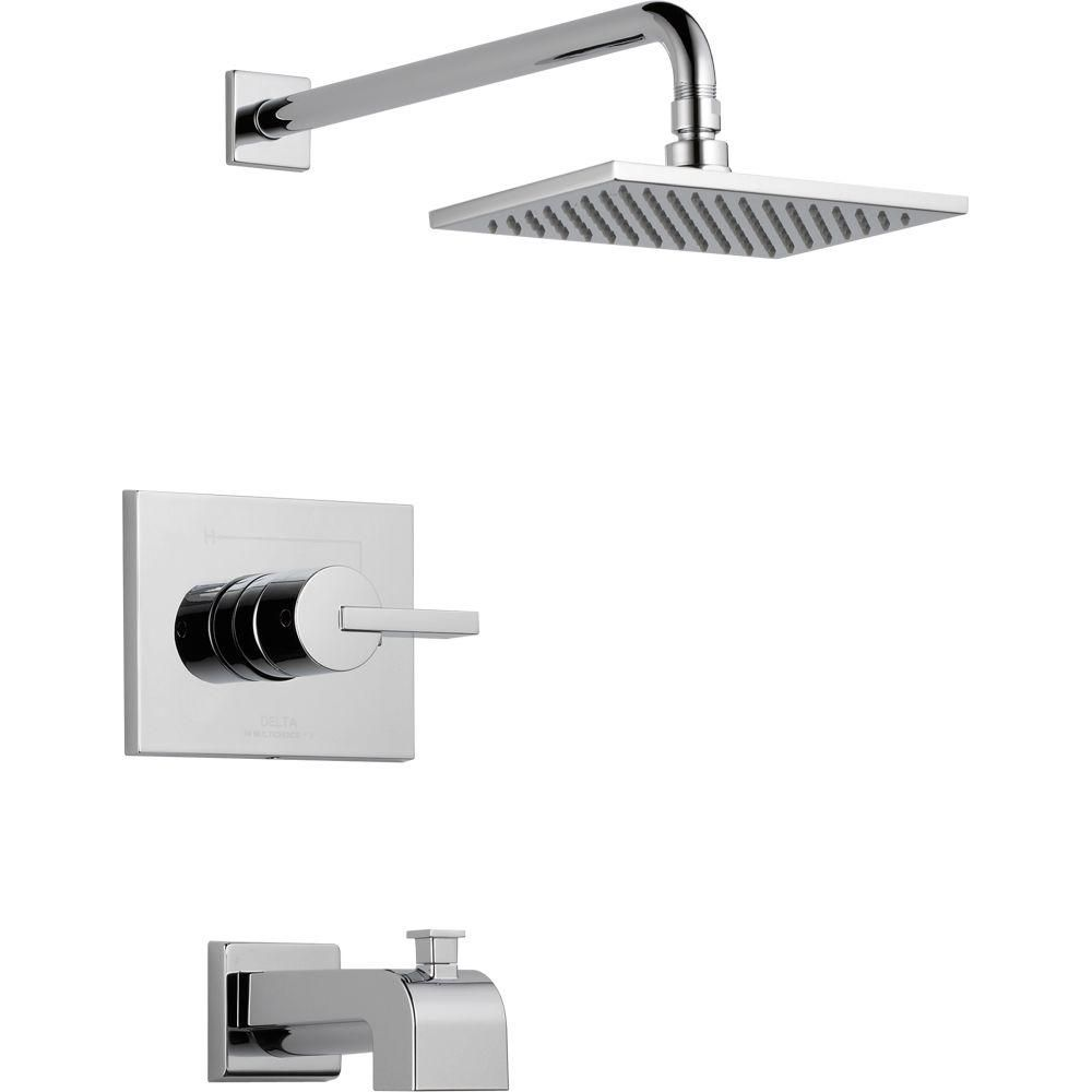 Delta Vero 1 Handle Tub And Shower Faucet Trim Kit Only In Chrome